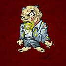 Cartoon Zombie Business Man Art by Al Rio by alrioart