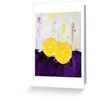 Lemon Scented Fruit Greeting Card