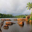 Shiny Lakeside Resort by David Clark