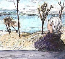 Jean at Callide Dam by John Douglas
