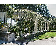 The Marble Pergola in the Gardens, Rosecliff Mansion Photographic Print