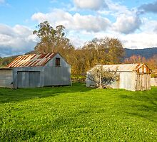 Old Farm Sheds In The Valley..... by mitpjenkeating