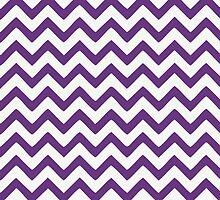 Lavender Chevron Pattern by artvia