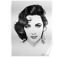 Elizabeth Taylor Minimal Portrait Poster