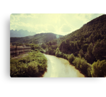 Between Mountains Canvas Print