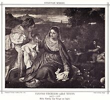 HOLLY FAMILY (La Vierge au lapin) by Krzyzanowski Art