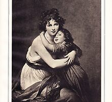 Portrait of Mme, Le Brun and her daughter by Krzyzanowski Art