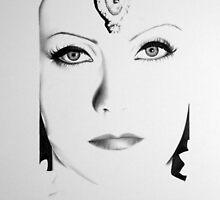 Greta Garbo Minimal Portrait by IleanaHunterArt