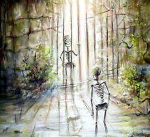 Grey Skeleton Gate by Heather Calderon