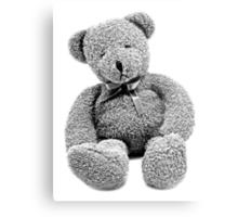 Cuddly Teddy Bear. Vintage Teddy Bear. Antique Teddy Bear. Teddy Bear Engraving. Metal Print