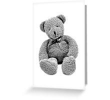 Cuddly Teddy Bear. Vintage Teddy Bear. Antique Teddy Bear. Teddy Bear Engraving. Greeting Card
