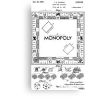 Monopoly Patent 1935 Canvas Print
