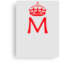 Moriarty in a crown Canvas Print