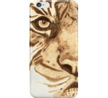 Pyrography Tiger Head iPhone Case/Skin