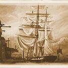 Drying Sails in Sepia by Woodie