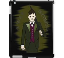 a war is coming - the penguin - gotham iPad Case/Skin