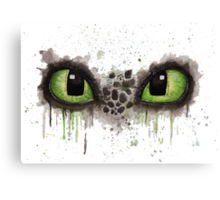 Toothless' eyes in watercolour Canvas Print