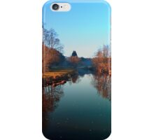 Winter mood on the river | waterscape photography iPhone Case/Skin