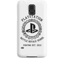 Playstation Battle Royale School (Black) Samsung Galaxy Case/Skin