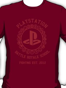 Playstation Battle Royale School (Red) T-Shirt