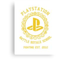 Playstation Battle Royale School (Yellow) Canvas Print