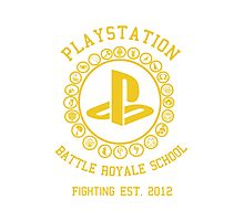 Playstation Battle Royale School (Yellow) Photographic Print
