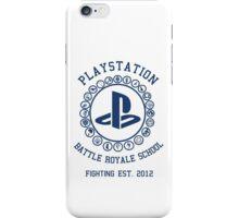 Playstation Battle Royale School (Blue) iPhone Case/Skin