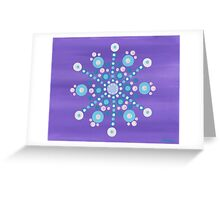 abstract snowflake (3) Greeting Card