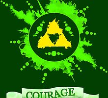 The legend of Zelda - Triforce Courage by cesimagina