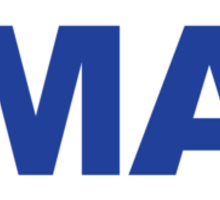 Massachusetts MA Euro Oval BLUE Sticker