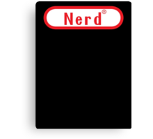 Nintendo Video Game Nerd Canvas Print
