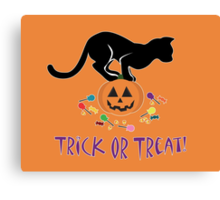 Trick or Treat Kitty Canvas Print