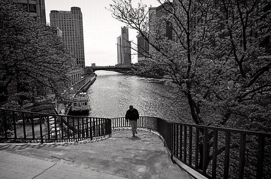 Running Man - Chicago by Norman Repacholi