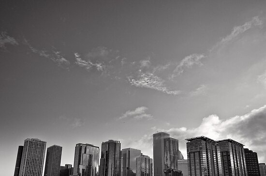 Chicago Cityscape Skyline by Norman Repacholi