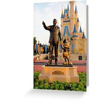 Walt Disney and Mickey Mouse  Greeting Card