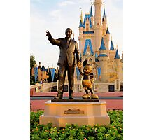 Walt Disney and Mickey Mouse  Photographic Print