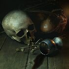 Still Life With Human Skull And Silver Chalice by JBlaminsky