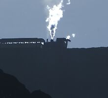 Snowdon Train Sillouette by Johindes