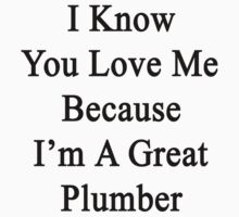 I Know You Love Me Because I'm A Great Plumber  by supernova23
