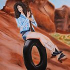 """Lana Del Rey """"Ride"""" Painting  by kitandkaboodle"""