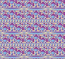 Purple Ribbon and Bubbles by Carol Vega
