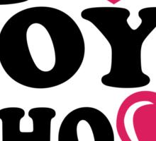 i love boys who love dubstep Sticker