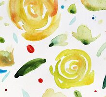 Dance painting flowers and leaves by clairewhitehead
