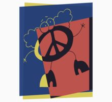 Pop Art Peace Person by retrorebirth