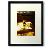 Sunshine Wine And Shadows   Framed Print