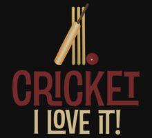 Cricket - I Love It T Shirt by wordsonashirt