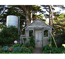Garden Shed - Churchill Island Historic Gardens Photographic Print