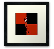 Harley Quinn Color Blocks Framed Print