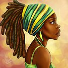 Green Yellow Wrap by Shakira Rivers