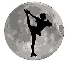 Figure Skate Moon by kwg2200